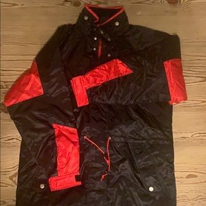 Vintage red and black winter jacket